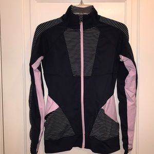 Blue grey & light pink track jacket